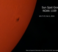 sunspot-noaa1109